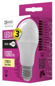 EMOS LED žárovka Classic A60 10,5W E27 teplá bílá