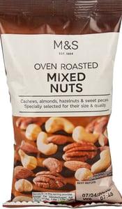 Marks & Spencer Směs v troubě pražených kešu, mandlí , lískových a pekan ořechů