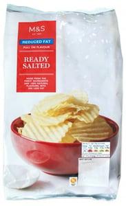 Marks & Spencer Brambůrky vroubkované solené se sníženým obsahem tuku