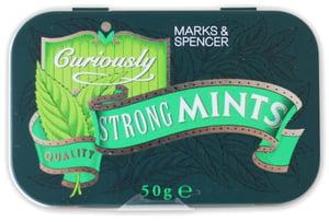 Marks & Spencer Extra silné mentolové bonbony v plechové krabičce