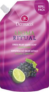 Dermacol Aroma Ritual náhradní náplň tekuté mýdlo hrozny s limetkou