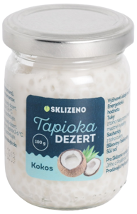 Sklizeno Tapioka dezert s příchutí kokosu