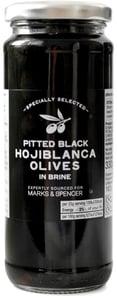 Marks & Spencer Vypeckované černé olivy Hojiblanca ve slaném nálevu