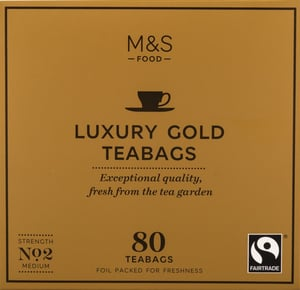 Marks & Spencer Porcovaný čaj Luxury Gold