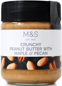 Marks & Spencer Arašídová pomazánka s kousky pekanových ořechů a javorovým sirupem