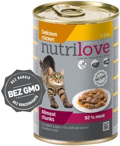 Nutrilove cat chunks jelly CHICKEN