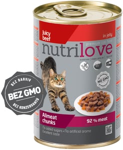 Nutrilove cat chunks jelly BEEF