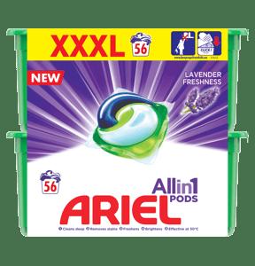 Ariel gelové kapsle Lavender 56ks