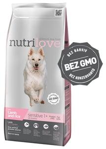 Nutrilove dog dry SENSITIVE lamb and rice granule speciálně vyvinuté pro psy s citlivým trávením