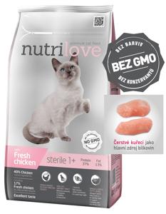 Nutrilove cat dry STERILE fresh chicken granule pro sterilizované/kastrované kočky