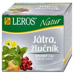 LEROS Natur Játra, žlučník 10x1,5g,