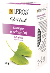 LEROS Vital Ginkgo a zelený čaj 20x2g,