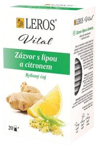 LEROS Vital Zázvor s lípou a citronem 20x2g,