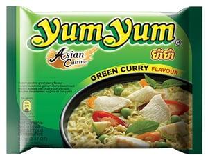 Yum Yum Instantní nudlová polévka zelené kari