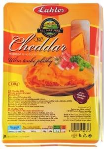 Laktos Cheddar 50%, tenké plátky