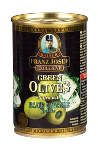 Franz Josef Kaiser Exclusive Zelené olivy plněné pastou z modrého sýra
