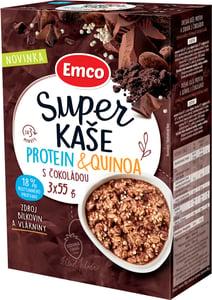 Emco Super kaše Protein a quinoa s čokoládou 3x55 g