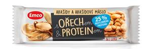 Emco Tyčinka s ořechem a proteinem - arašídy a arašídové máslo