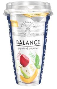 Hollandia Balance jogurtové smoothie banán, hruška, jablko, špenát