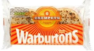 Warburtons Crumpets lívance 6ks (mražené)