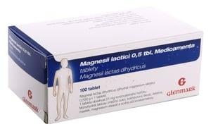 MAGNESII LACTICI 0,5 TBL. MEDICAMENTA 0,5G neobalené tablety 100
