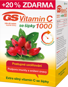 GS Vitamin C1000 se šípky tbl.100+20