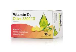 Vitamin D3 Oliva 2200 IU 30 kapslí