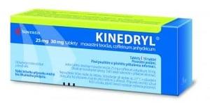 KINEDRYL 25MG/30MG neobalené tablety 10