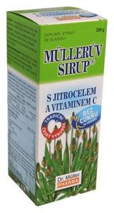 Müllerův sirup s jitrocelem bez cukru 260g