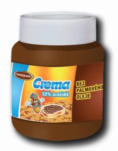 Chocoland CREMA arašídová pomazánka bez palmového oleje