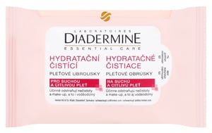 Diadermine Essential Care Hydratační čistící pleťové ubrousky