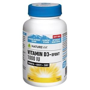 Swiss NatureVia Vitamin D3-Efekt 1000 IU tbl.90