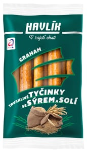 Havlík Trvanlivé tyčinky se sýrem a solí - Graham