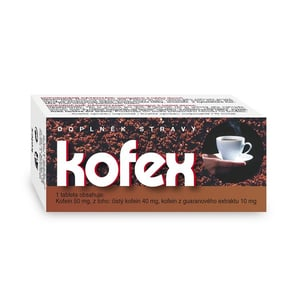 Kofex přír.kofein+guarana tbl.80 NATURVITA