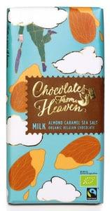 Chocolates From Heaven BIO Mléčná čokoláda s karamelizovanými mandlemi a mořskou solí 37%