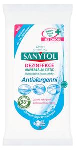 Sanytol Dezinfekční jednorázové čistící utěrky antialergenní 48 ks