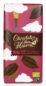 Chocolates From Heaven BIO Hořká čokoláda Peru a Dominikánská republika 85%