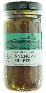Marks & Spencer Nasolené filety z ančoviček bez kůže a kostí v extra panenském olivovém oleji (42%)