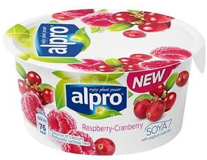 Alpro Fresh sojová alternativa jogurtu malina-brusinka