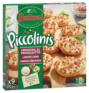 Buitoni Piccolinis Cremosa mini pizzy 9ks