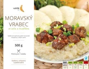 Rohlik.cz Moravský vrabec se zelím a knedlíkem
