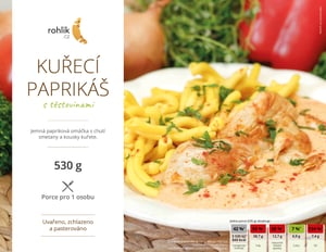 Rohlik.cz Kuřecí paprikáš s těstovinami