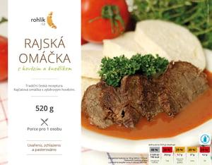 Rohlik.cz Rajská omáčka s hovězím a knedlíkem