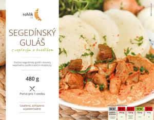 Rohlik.cz Segedínský guláš s vepřovým a knedlíkem