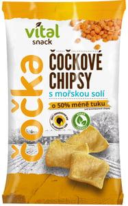 Vital Snack BIO Čočkové chipsy s mořskou solí