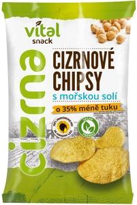 Vital Snack BIO Cizrnové chipsy s mořskou solí, bez lepku