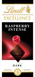 Lindt Excellence Raspberry Intense hořká čokoláda