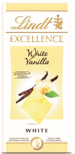 Lindt Excellence White Vanilla bílá čokoláda