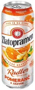 Zlatopramen Radler Pomeranč & Zázvor pivo ochucené plech