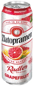 Zlatopramen Radler Grapefruit pivo ochucené plech